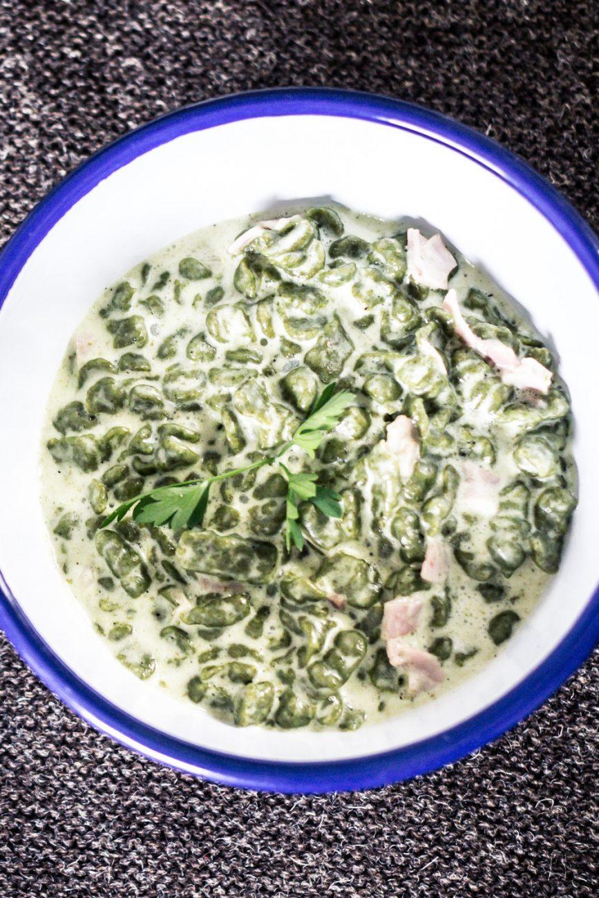 Spätzle di farro e spinaci