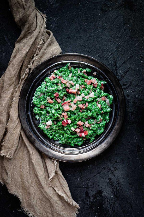 Spätzle agli spinaci