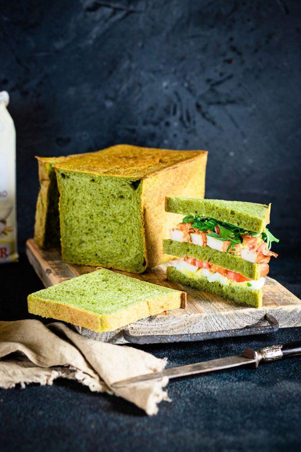 Pane in cassetta agli spinaci
